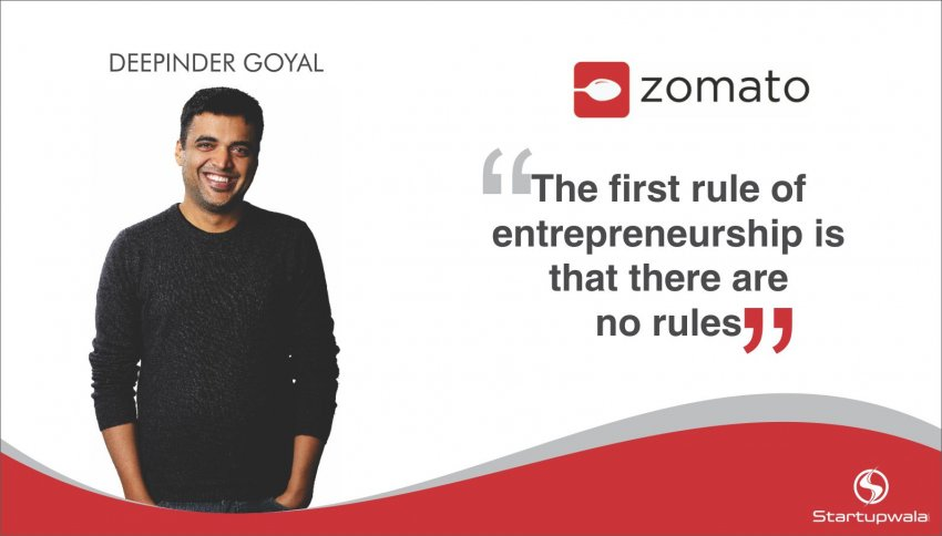 Deepinder Goyal, CEO of Zomato