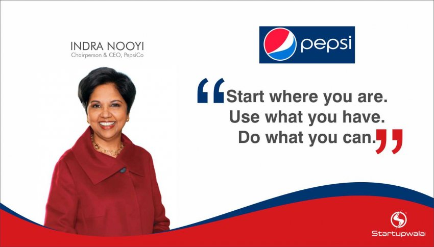 Indra Krishnamurthy Nooyi ,Chairperson & CEO of Pepsico